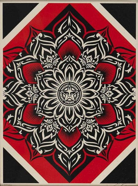 Shepard Fairey-Lotus Diamond (Red)-