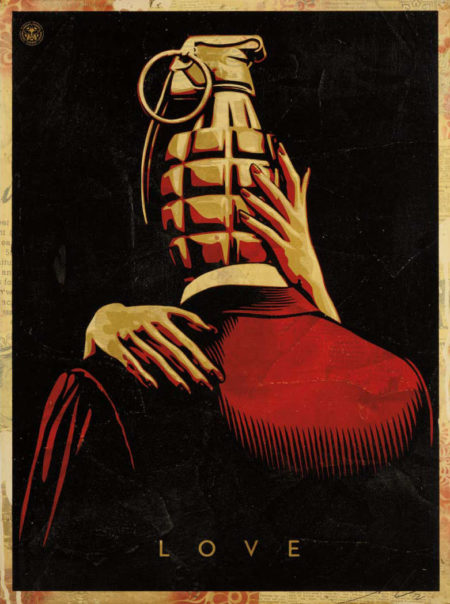 Shepard Fairey-Love is the Drug-2012