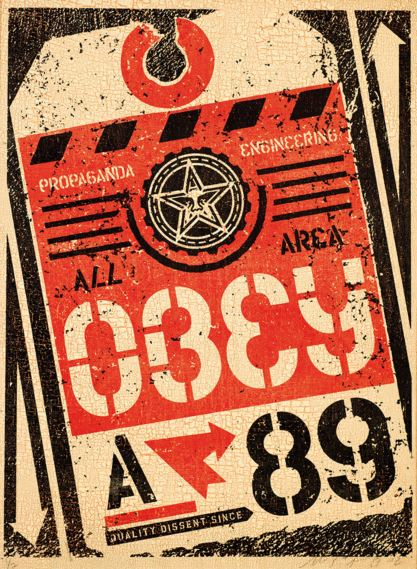 Shepard Fairey-Luggage Tag-2002