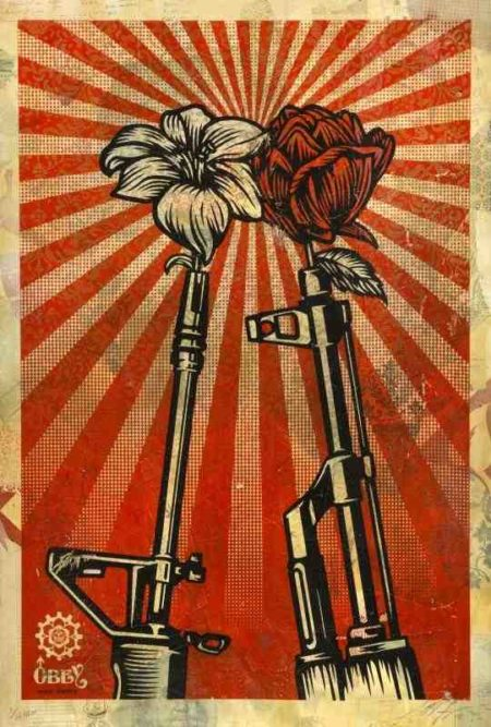 Shepard Fairey-M16 VS AK47-2006