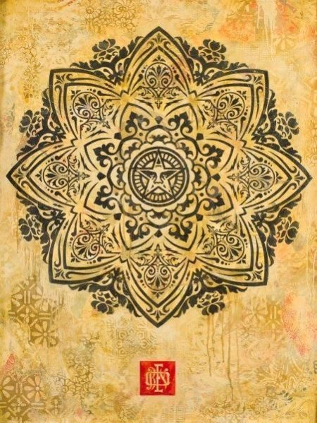 Shepard Fairey-Mandala Ornament 1-2011