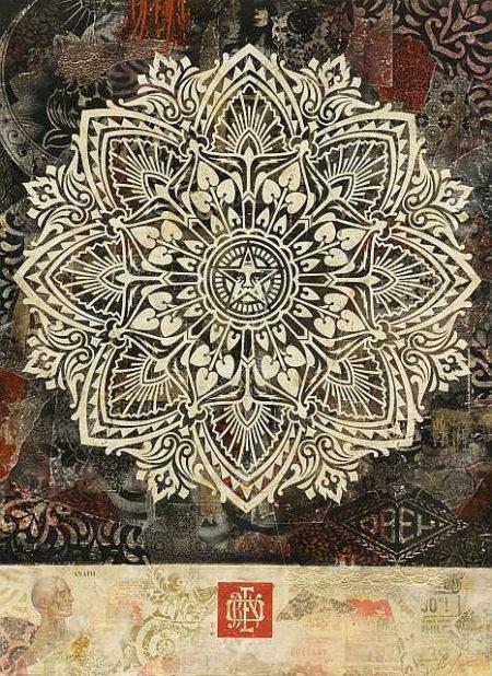 Shepard Fairey-Mandala Ornament HPM-2011