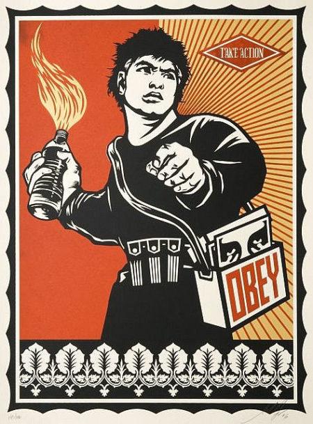 Shepard Fairey-Molotov Man-2006