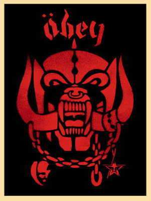 Shepard Fairey-Motorhead Red-2002