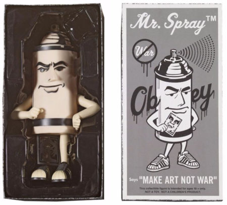 Shepard Fairey-Mr Spray Black-2010