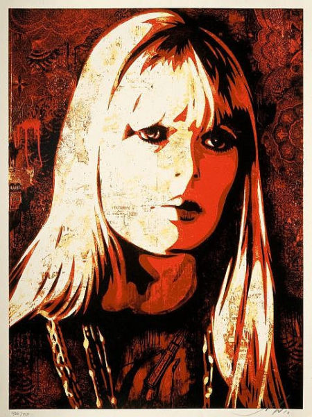 Shepard Fairey-Nico Canvas-2010
