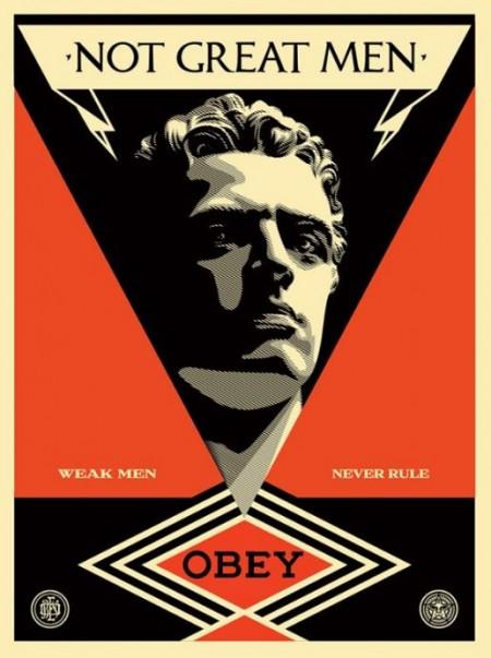 Shepard Fairey-Not great men-2013