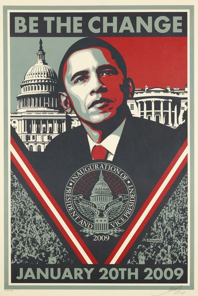 Shepard Fairey-Obama Be the Change-2009