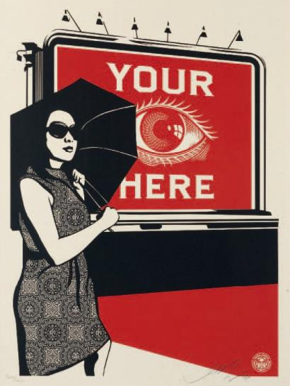 Shepard Fairey-Obey Billboard (Eye)-2008