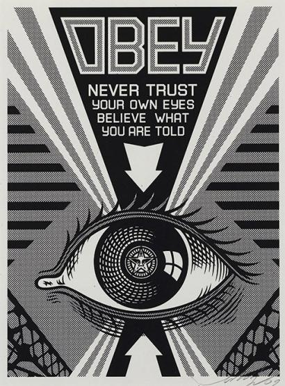 Shepard Fairey-Obey Eye (Black)-2009