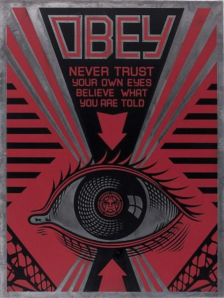 Shepard Fairey-Obey Eye on Metal-2009