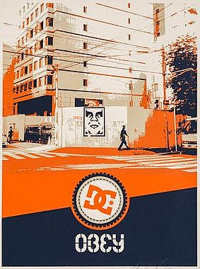 Shepard Fairey-Osaka Wall / DC Shoes Edition-2001