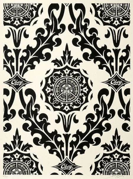 Shepard Fairey-Parlor Pattern (Cream/Black)-2010