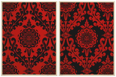 Shepard Fairey-Parlor Pattern Set (Red/Black Edition)-2010