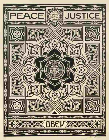 Shepard Fairey-Peace And Justice-2012