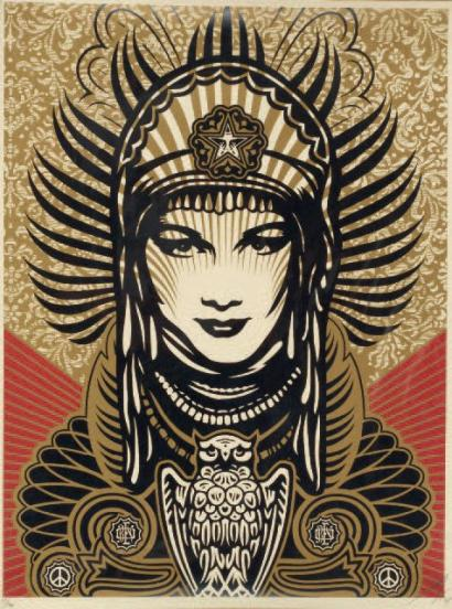 Shepard Fairey-Peace Goddess-2007