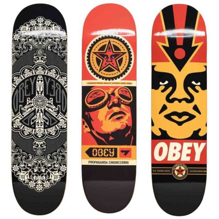 Shepard Fairey-Peace Plane Deck, Worker Deck, Logo Deck-2008