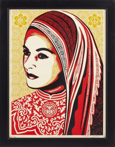 Shepard Fairey-Peace Woman-2008