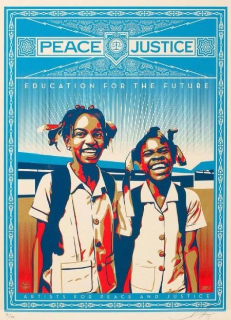 Shepard Fairey-Peace and Justice - HAITI-2012