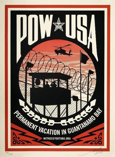 Shepard Fairey-Pow Usa (Permanent Vacation In Guantanamo Bay)-2007