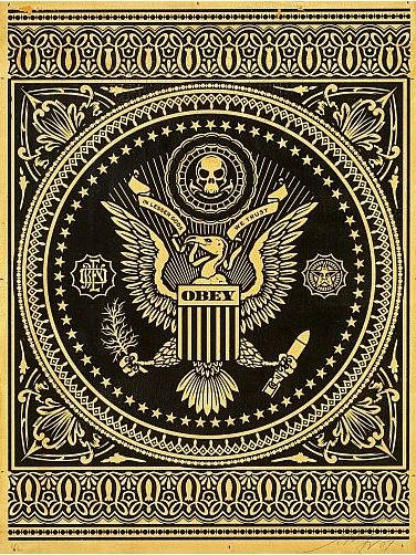Shepard Fairey-Presidential Seal (Black)-2007