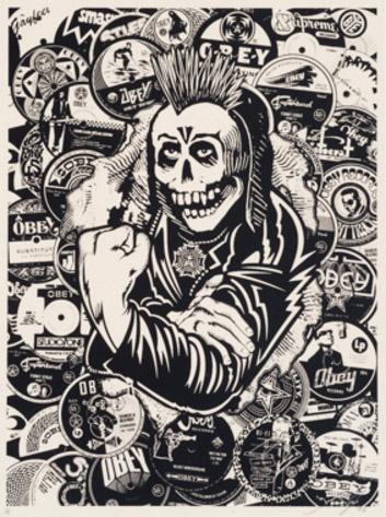 Shepard Fairey-Psycho Posse-2006