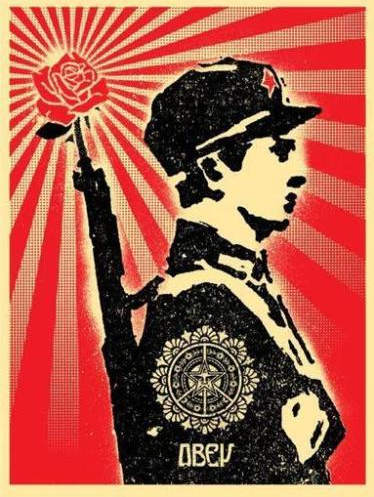 Shepard Fairey-Rose Soldier-2006