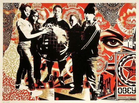 Shepard Fairey-She's Not a Planet, She is One of Us-2011