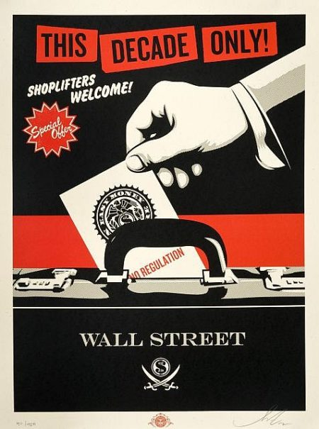 Shepard Fairey-Shoplifters Welcome-2012
