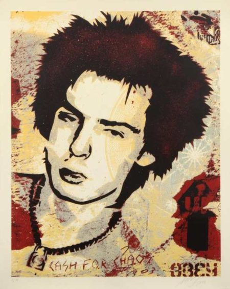 Shepard Fairey-Sid Vicious: Cash For Chaos-2003