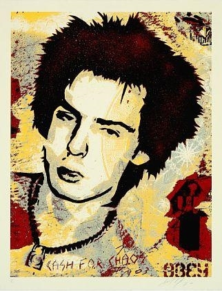 Shepard Fairey-Sid Vicious, Cash for chaos-2003