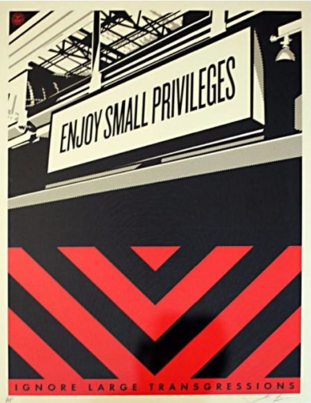 Shepard Fairey-Small Privileges-