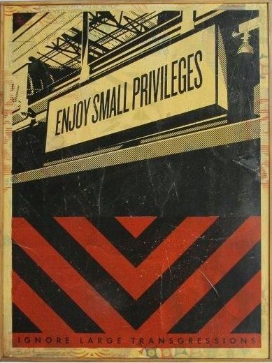 Shepard Fairey-Small Privileges-2011