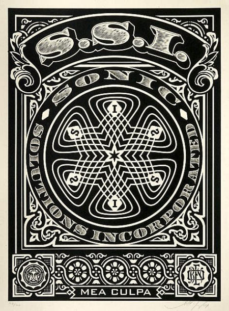 Shepard Fairey-Sonic Solutions Incorporated (Black Edition)-2008