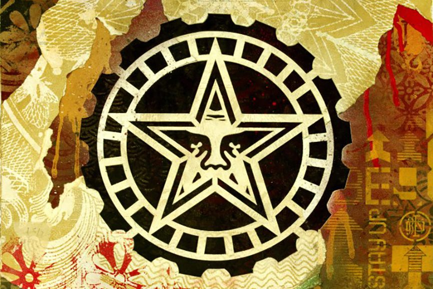 Shepard Fairey - Star Gear, 2017