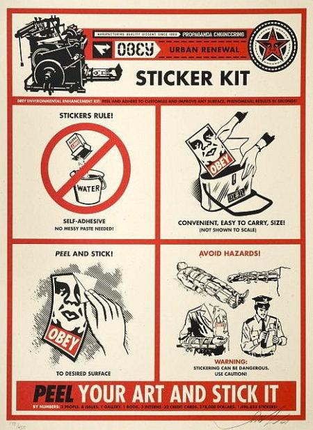 Shepard Fairey-Sticker Kit Print-2009