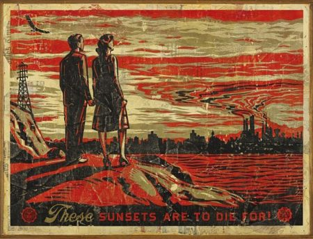 Shepard Fairey-Sunsets To Die For-2007