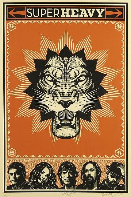 Shepard Fairey-Super Heavy-2011