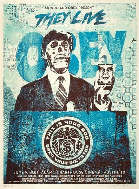 Shepard Fairey-They Live (Blue Edition)-2011