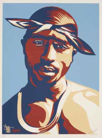 Shepard Fairey-Tupac Blue-2004