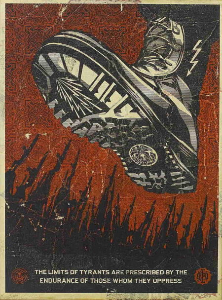Shepard Fairey-Tyrant Boot-2009
