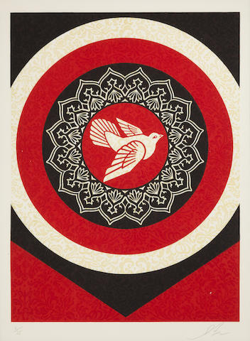Shepard Fairey-Untitled (Dove Target Red), from the Target Series-2012