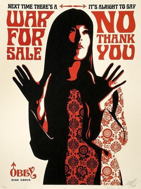 Shepard Fairey-War for Sale (Cream Edition)-2007
