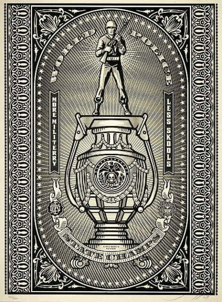 Shepard Fairey-World Police State Champs (Silver Edition)-2007