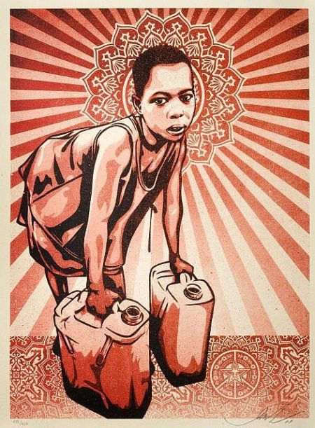 Shepard Fairey-Yellow Cans-2009