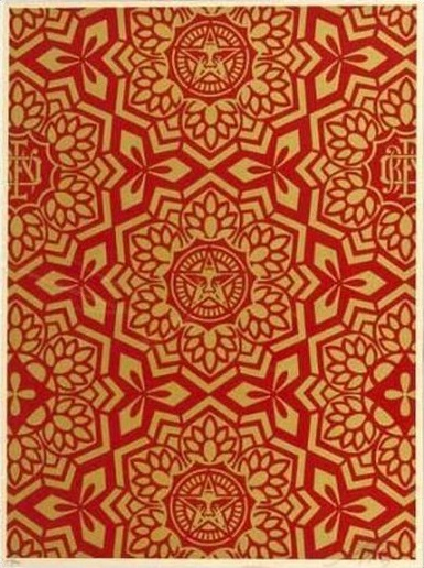Shepard Fairey-Yin Yang in Gold-