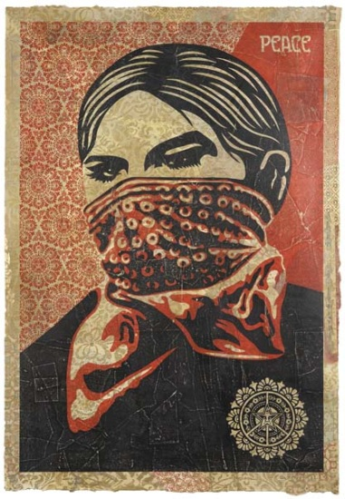 Shepard Fairey-Zapatista Woman HPM-2005