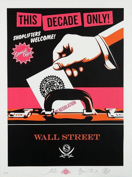 Shepard Fairey-Jamie Reid-Shepard Fairey & Jamie Reid - Shoplifters, Welcome (Pink)-2012