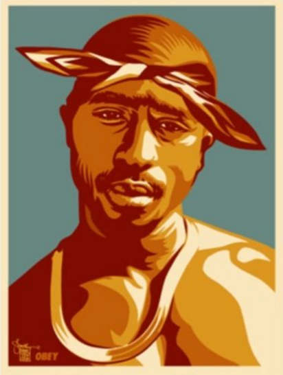 Shepard Fairey-Tupac Red-2004