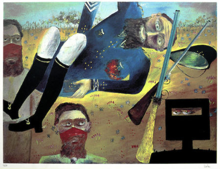 Sidney Nolan-Death of Sergeant Kennedy, from Ned Kelly-1971